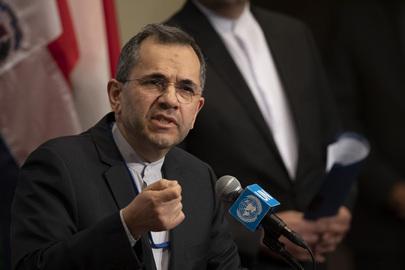 Permanent Representative of Iran Addresses Media