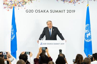 Secretary-General Attends G20 Summit in Osaka, Japan