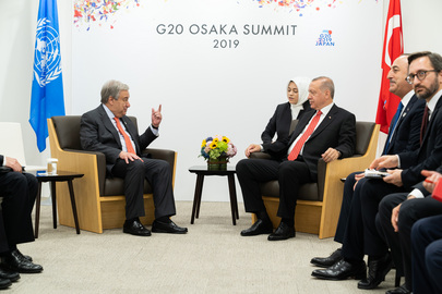 Secretary-General Meets President of Turkey in Osaka