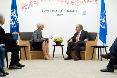 Secretary-General Meets IMF Chief in Osaka