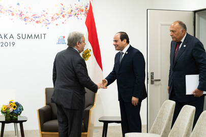 Secretary-General Meets President of Egypt in Osaka