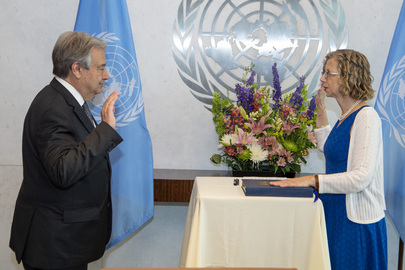 Secretary-General Swears in Executive Director of UN Environment Programme