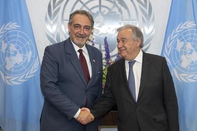 Secretary-General Meets President of IFRC