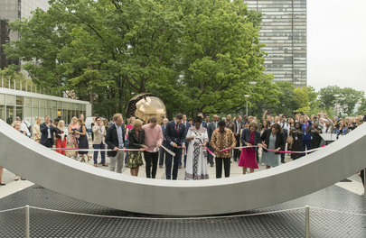 """Unveiling of """"The Best Weapon"""" at UN Headquarters"""