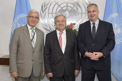 Secretary-General Meets Co-Presidents of 11th Conference on Comprehensive Nuclear-Test-Ban Treaty