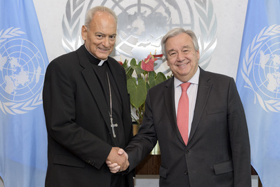 Secretary-General Meets Chancellor of Pontifical Academy of Science