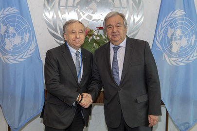 Secretary-General Meets Special Envoy for Road Safety