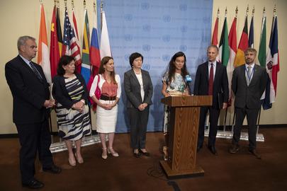 Security Council Members Brief Press