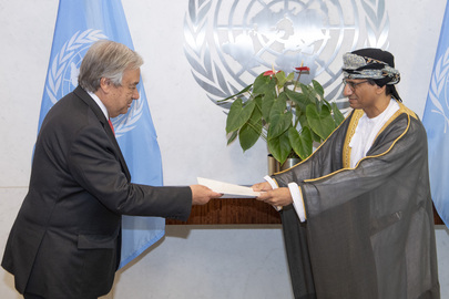New Permanent Representative of Oman Presents Credentials