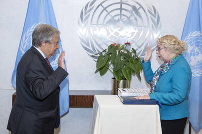 Secretary-General Swears in Director-General of UN Office at Geneva