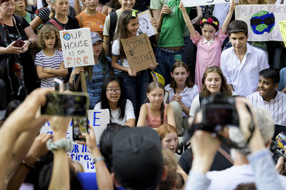 Greta Thunberg Joins Climate Action Protest Outside UNHQ