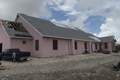 Church Serves as Shelter on Abaco Island, Bahamas, after Hurricane Dorian
