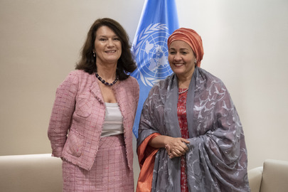 Deputy Secretary-General Meets Minister for Foreign Affairs of Sweden