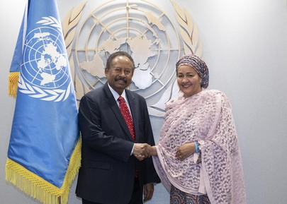Deputy Secretary-General Meets Prime Minister of Sudan