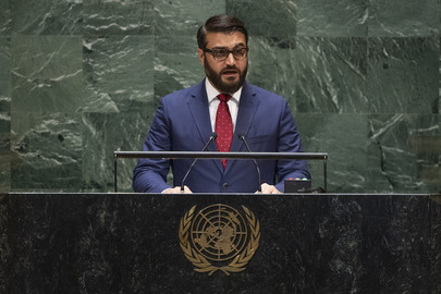 Chair of Delegation of Afghanistan Addresses General Assembly