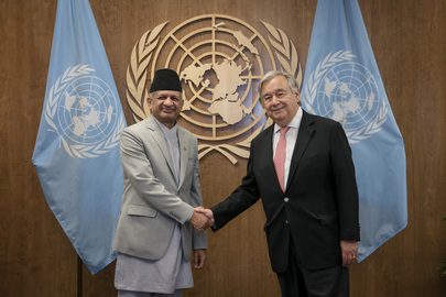 Secretary-General Meets Minister for Foreign Affairs of Nepal