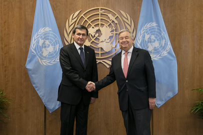 Secretary-General Meets Minister for Foreign Affairs of Turkmenistan