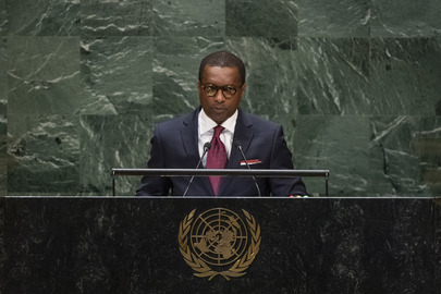 Chair of Delegation of Benin Addresses General Assembly
