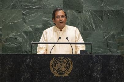 Chair of Delegation of Sri Lanka Addresses General Assembly