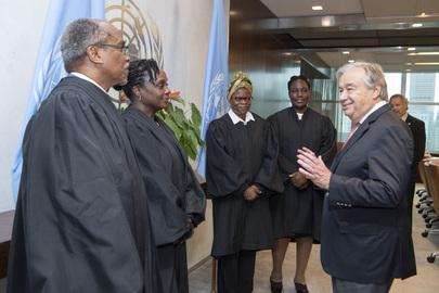 Secretary-General Swears in Judges for United Nations Dispute Tribunal