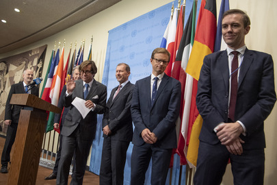 European Security Council Members Brief Media on DPRK
