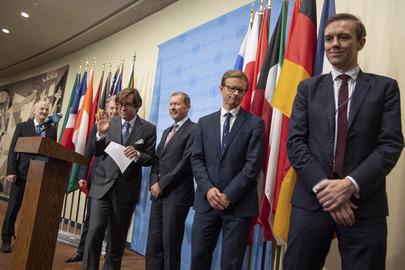 European Security Council Members Brief Media on DPRK