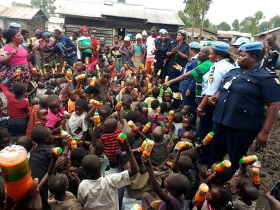 UNPOL MONUSCO Visit Grace Orphanage in Kibati
