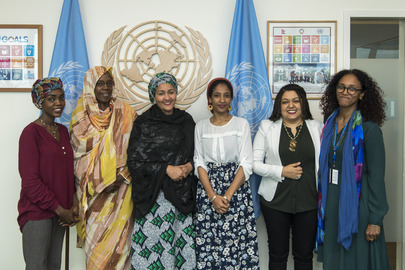 Deputy Secretary-General Meets Civil Society Activist Alaa Salah