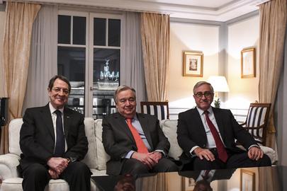 Secretary-General Meets Greek Cypriot and Turkish Cypriot Leaders