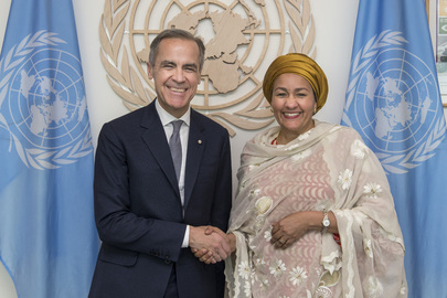 Deputy Secretary-General Meets Incoming Special Envoy on Climate Action and Finance