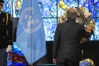 Secretary-General Signs Book of Condolences for Former Secretary-General Pérez de Cuéllar