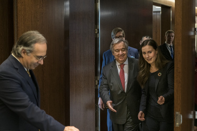Secretary-General Meets Prime Minister of Finland