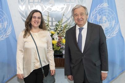 Secretary-General Meets Vice-President of European Women's Lobby