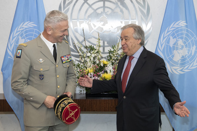 Secretary-General Meets Chief of Defence Staff of French Armed Forces