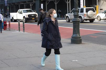 Street Scene in New York City during COVID-19 Outbreak