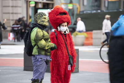 Street Scene in New York City during COVID-19 Outbreak