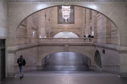 Scene in Grand Central Terminal in New York City during COVID-19 Outbreak