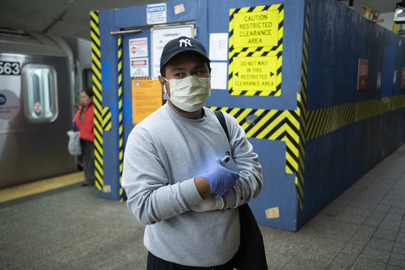 Scene in New York City during COVID-19 Outbreak