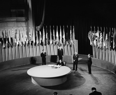 The San Francisco Conference, 25 April - 26 June 1945: Luxembourg Signs the United Nations Charter