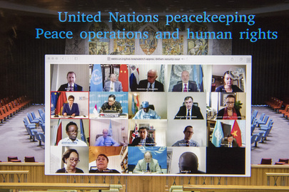 Security Council Members Hold Open Videoconference in Connection with UN Peacekeeping Operations and Human Rights