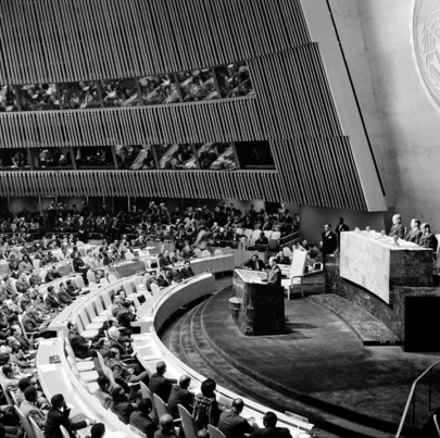 Emperor Haile Selassie Addresses Eighteenth Session of UN General Assembly