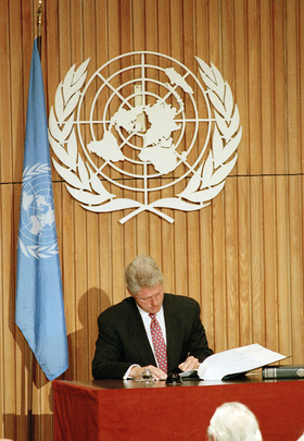 Comprehensive Nuclear-Test-Ban Treaty is Signed at Headquarters
