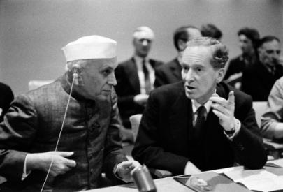 Prime Minister Nehru Visits U.N. Headquarters