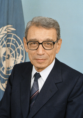 Boutros Boutros-Ghali, Sixth Secretary-General of the United Nations, UN Photo # 86013