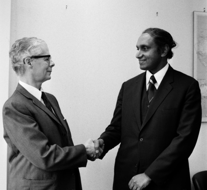 Gamani Corea (Sri Lanka) to Succeed Manuel Perez-Guerrero (Venezuela) as Secretary-General of UNCTAD on 1 April 1974