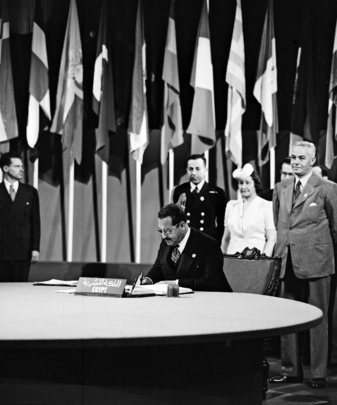 The San Francisco Conference: Egypt Signs the United Nations Charter
