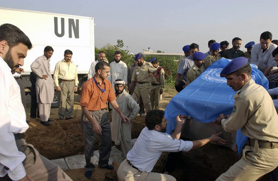 UN Staff and Son Killed in Pakistan Quake Buried