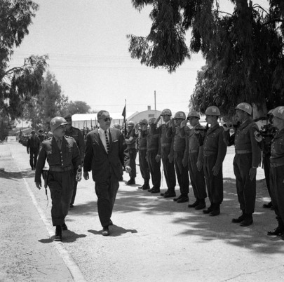 Dr. Ralph Bunche Visits U.N. Emergency Force (UNEF)