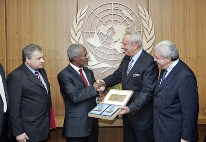 Secretary-General Meets Director-General of ITAR-TASS