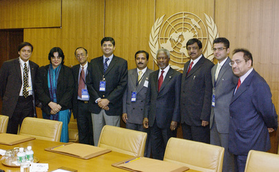 Secretary-General Meets Multi-Party India-US Forum of Parliamentarians